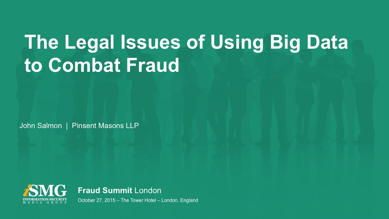 The Legal Issues of Using Big Data to Combat Fraud